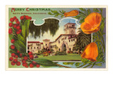 Merry Christmas, Courthouse, Santa Barbara, California