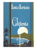 Art Deco Poster, Santa Barbara, California
