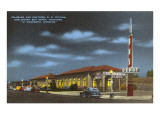 Night, Train and Bus Station, Cheyenne, Wyoming