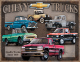 Chevy Truck Tribute Tin Sign