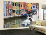 Buy Colorful Burano City Homes Reflecting in the Canal, Italy at AllPosters.com