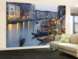 Buy Outlook from Ponte Di Rialto Along Grand Canal at Dusk at AllPosters.com