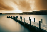Wooden Landing Jetty-Color Poster