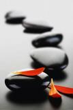 Zen Stones-Red Poster