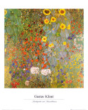 Country Garden with Sunflowers Art Print