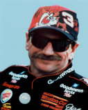 Dale Earnhardt Portrait With Tazz Hat