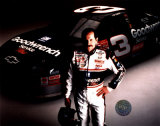 Dale Earnhardt Studio Shot With Car (Horizontal)