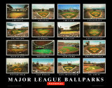Major League Ballparks: National League Art Print