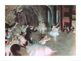The Rehearsal of the Ballet on Stage, c.1874 Art Print