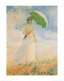 Woman with Parasol Art Print