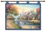 Cobblestone Bridge Wall Tapestry