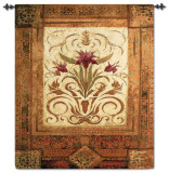 Crimson Blossom Wall Tapestry