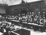 A Scene in the Courtroom During the 3rd Day Session of the Nuremberg Trial
