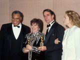 Actors James Earl Jones, Kathy Bates, Jeremy Irons and Faye Dunaway at Golden Globe Awards