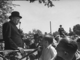 Prime Minister Winston Churchill Making a Speech During an Election Tour