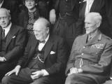 Prime Minister Winston Churchill Sitting with the Other Leading Members of the British Commonwealth