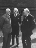 Winston Churchill Talking with Field Marshall Jan Christian Smuts, Peter Fraser at Dominion Conf.