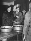 Eleanor Roosevelt Visiting a Men's Mess and Talking with the Cooks