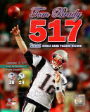 Tom Brady Most Passing Yards in New England Patriots History Overlay