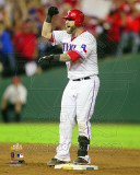 Mike Napoli celebrates his 2 Run Double Game 5 of the 2011 MLB World Series Action(#22)