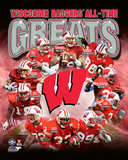 University of Wisconsin Badgers All Time Greats Composite