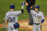 Texas Rangers v Detroit Tigers - Game Four, Detroit, MI - October 12: Ian Kinsler and Josh Hamilton