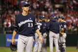 Milwaukee Brewers v St Louis Cardinals - Game Five, St Louis, MO - October 14: Zack Greinke