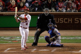 Texas Rangers v St Louis Cardinals, St Louis, MO - Oct. 27: Lance Berkman and Colby Lewis