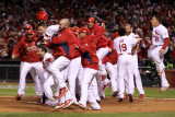 2011 World Series G. 6 - Texas Rangers v St Louis Cardinals, St Louis, MO - Oct. 27: Yadier Molina