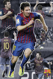 Barcelona-Messi Collage Poster