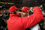 Game 7 - Rangers v Cardinals, St Louis, MO - October 28: Albert Pujols and Tony La Russa