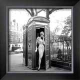Lucinda in a Telephone Box, London, 1959
