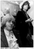 Brian Jones & Keith Richards-Hyde Park Apartment 1968