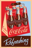 Coca Cola Refreshing 6 Pack Poster