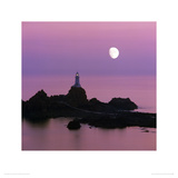 Moon over Corbiere Lighthouse, Jersey