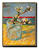 Blossoming Almond Branch in a Glass, c.1888 Framed Canvas Print