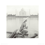 Taj Mahal, India, Vogue 1956,