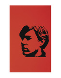Self-Portrait, c.1967 (Black Andy on Red) Art Print