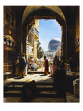 At the Entrance to the Temple Mount, Jerusalem