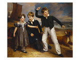 A Group Portrait of Robert, James and Mary Sarah, the Three Children of James Greenhalgh