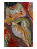Female Nude (Reading); Weiblicher Akt (Lesend)