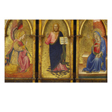 Christ the Redeemer; the Archangel Gabriel and the Virgin Annunciate Giclee Print