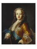 Portrait of King Louis Xv (1715-1774), as a Youth,  Half Length, Wearing a Yellow Coat with the…