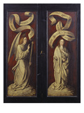 Triptych: Virgin and Child Seated with Saint Anne Offering a Pear
