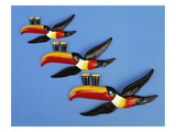 A Set of Three Carltonware Graduated Guinness Advertising Toucan Wall Hangings