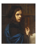Portrait of a Young Scholar Wearing a Blue Cloak and a Cap