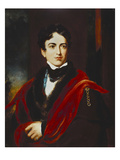 Portrait of John George Lambton, 1st Earl of Durham, Gcb, Mp (1792-1840), in a Dark Coat, with a… Giclee Print