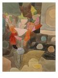 Still Life with Gladioli; Gladiolen Still Leben Art Print