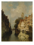 A View of the Voorstraathaven, Dordrecht