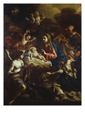 The Nativity with Adoring Angels and the Annunciation to the Shepherds Beyond